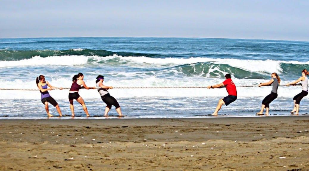σκοινί στην παραλία