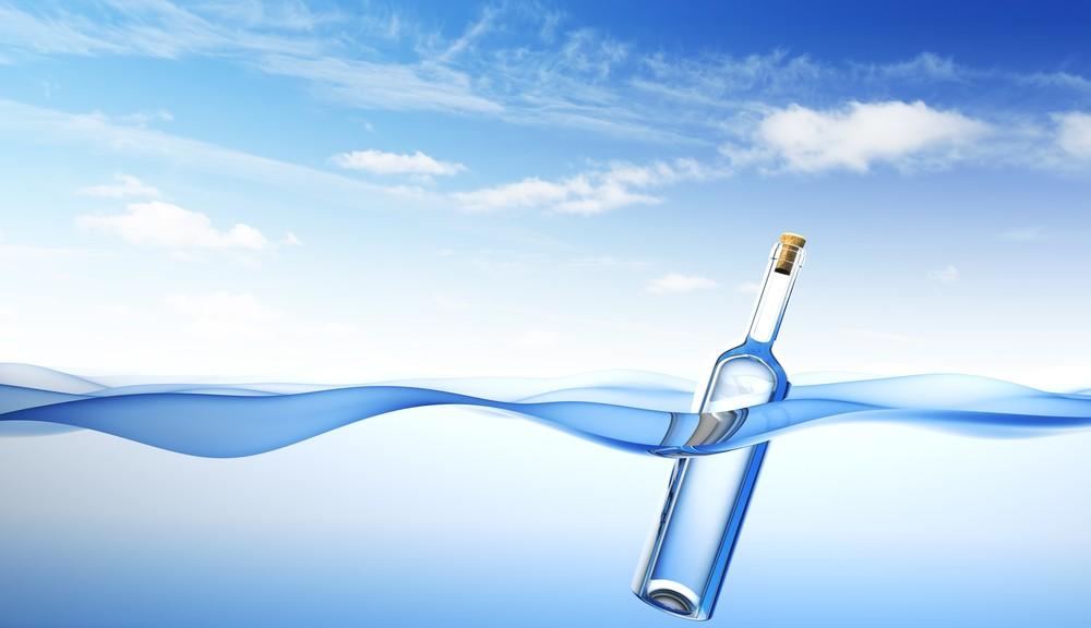 μπουκάλι που επιπλέει