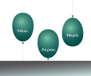 μπαλόνια με διαφορετικό περιεχόμενο
